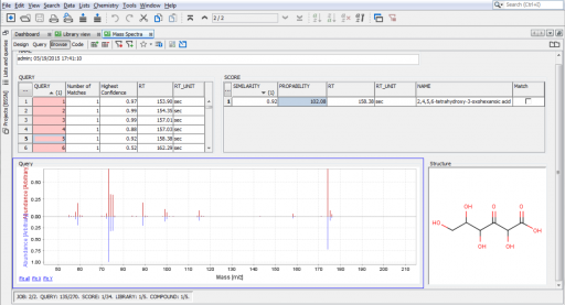 Instant JChem with BSSN Software's Mass Spectra tool for PepsiCo.