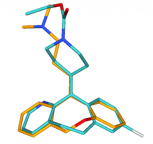3D alignment of Doxepine and Loratadine